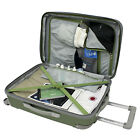 """Beverly Hills Country Club Malibu 21"""" Gray Carry-on Spinner Suitcase Luggage Bag"""