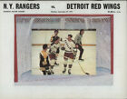 1971-72 RANGERS vs RED WINGS NHL Hockey Program