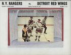 1971-72 RANGERS vs RED WINGS NHL Hockey Program
