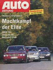 BMW 745i Sonderdruck 2001 25/01 Lexus LS 430 Mercedes S 430 reprint tiré a part