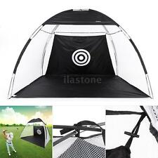 10' Golf Practice Driving Hit Net Cage Training Mat Aid Driver Irons w/ Bag K8O8