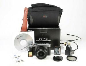 Fujifilm X-A5 Fuji Camera & XC15-45mm Lens Kit Boxed Battery & Charging Lead EXC