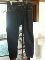 MENS BURTON DARK BLUE SLIM FIT JEANS W34 L32 IMMACULATE