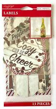 (1) package of scrapbooking stickers/labels - Christmas/Winter Cheer Labels