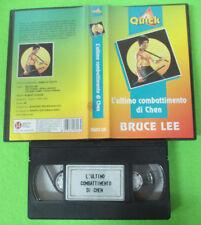 VHS film L'ULTIMO COMBATTIMENTO DI CHEN Bruce Lee VIDEO QUICK (F32) no dvd