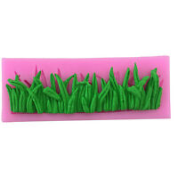 3D Grass Shaped Silicone Fondant Mold Cake Chocolate Sugarcraft Cutter Mould YJ