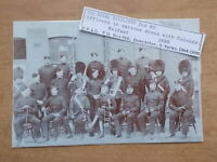 MILITARY PHOTOGRAPH - THE ROYAL FUSILIERS - OFFICERS WITH COLOURS c1896 - m899