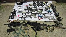 Big Lot 15 Paintball Guns Markers, Feeders, Tanks, Masks, Parts, Gear, Etc.
