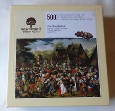 WENTWORTH WOODEN JIGSAW PUZZLE.THE VILLAGE FESTIVAL. PIETER BRUEGHEL.500  PIECES