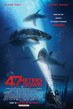 47 METERS DOWN MOVIE POSTER 2 Sided ORIGINAL FINAL 27x40 MANDY MOORE CLAIRE HOLT