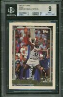 1992 TOPPS GOLD #362 SHAQUILLE O'NEAL ROOKIE CARD RC BGS 9 MINT! 👀🔥🔥🔥🔥🔥🔥