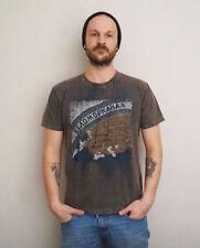 Vintage-unifarbene Herren-T-Shirts aus Baumwolle