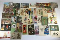 40 Postcards Variety Artist Signed, Cartoon, Foreign Vintage/ Antique Huge Lot