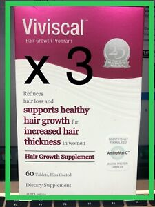 3 x Viviscal Women's Hair Growth Supplement 60( EXPRESS POSTAGE) EXPIRY: 07/23