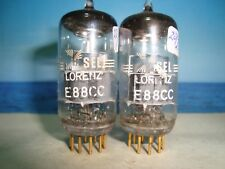 E88CC TELEFUNKEN # Label Lorenz # NOS # ( CCa , 6DJ8 ) matched Pair # <> # (985)