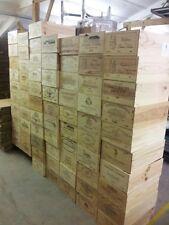 4 x Genuine 12 bottiglia grande in legno vino CRATE / PARALLELEPIPEDO / FIORIERA / ostacolare / Retrò