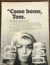 1964 Puss'n Boots Cat Food Print Ad Come Home Tom Woman Coaxes Her Cat