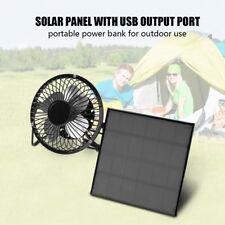 3W 6V Solar Panel Powered Mini USB Fan Cooling Kit Home Camping Ventilator BT