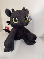 Build A Bear Dreamworks Dragons Toothless Stuffed Animal Toy Plush Black 14""