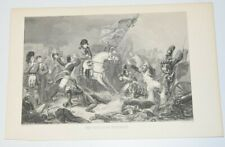 THE BATTLE OF WATERLOO Engraving Print Steuben AUDIBRAN