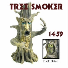 "Tree Smoker Polyresin Brown Smoking Burner. For stick incense. (11"" tall) 1459"