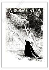 Affiche Offset MANARA Fellini Dolce Vita Cinema 35x50