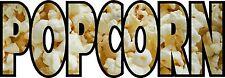 1 Pair of POPCORN STICKERS words - CATERING VAN - KIOSK - FOOD VINYL LETTERING