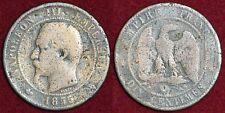 FRANCE 10 centimes 1855W Napoléon III tête nue