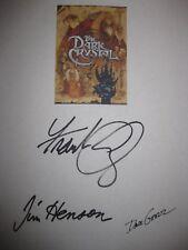 The Dark Crystal Signed Film Movie Script X3 Jim Henson Frank Oz Dave Goelz rpnt