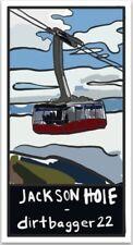 Jackson Hole Ski Tram Sticker, Dirtbagger 22 Designs