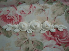 "SHABBY & CHIC ""FRENCH CABBAGE ROSES"" ~ Center Furniture Applique Pediment"