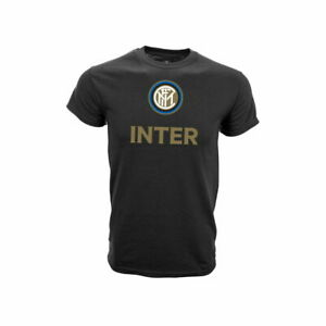 INTER MILAN BLACK ADULT T-SHIRT PREMIUM 100% COTTON OFFICIALLY LICENSED