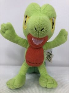 "Treecko Pokemon 8"" Plush 2015 Stuffed Figure Tomy GUC"