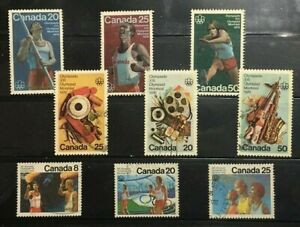 CANADA :3 DIFF.COMPL. SETS ON MONTREAL OLYMPICS-76,LARGE,COMM. FU,#A*