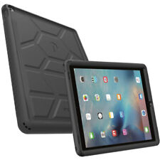 For iPad Pro 12.9 2015 [Shockproof] w/Drop Protection Silicone Case Cover Black