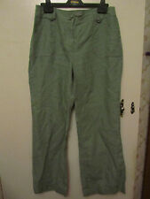 Green Linen M&S Per Una Trousers in Size 12 S - NWOT - L29 - Slight Bootcut