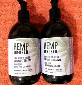 2 - Upper Canada Soap Hemp Lavender Vegan Gluten Free Hand Soap Wash 16.9 oz