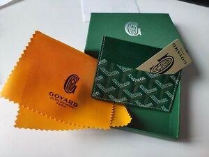 Grüne 1Goyard1 Kartenetui Brieftasche 100% echtes Leder