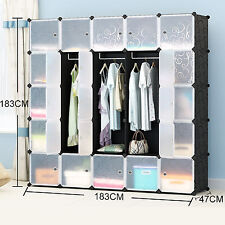 5 Tiers 47cm Extra Deep Interlocking Wardrode Clothes Storage Cubes 183*183cm