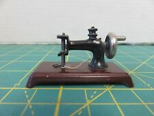 Vintage Dollhouse Miniature Sewing Machine Only w/Base Metal Painted