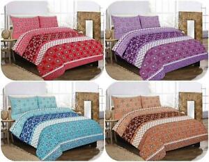 Robyn King size  Polycotton Print Duvet Quilt Cover +Pillowcase Bedding Set