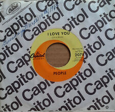 PEOPLE (LARRY NORMAN) - I LOVE U b/w SOMEBODY TELL ME MY NAME - CAPITOL 45 - '68