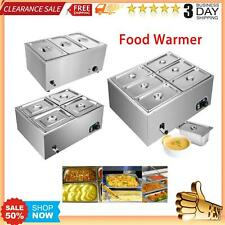 Commercial Electrical Food Warmer Stainless Steel Bain Marie Buffet 346 Pots