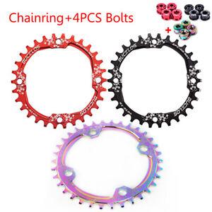 104bcd MTB Round Oval Narrow Wide Chainring 30-42T Bike Single Chainwheel 7-10s