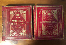 Rare 1847 The World In Miniature Atlas 2 Vol; New Orleans Imprint; Charles Colby