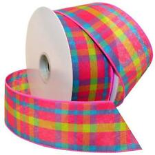 Morex Ribbon Color Chic Plaid Wired Fabric Ribbon, 2 1/2-Inch by 50-Yard Spool,