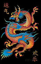 Asian Dragon Flocked Blacklight Poster Blacklight Poster Print, 23x35