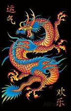 Asian Dragon Flocked Blacklight Poster Blacklight Poster Print, 23x35