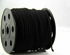black 10yd 3mm Suede Leather String Jewelry Making Thread Cords
