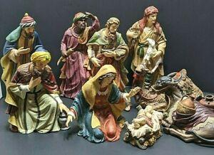 Nativity Porcelain 9 Piece Grandeur Noel Set Collectors Edition1999 Christmas